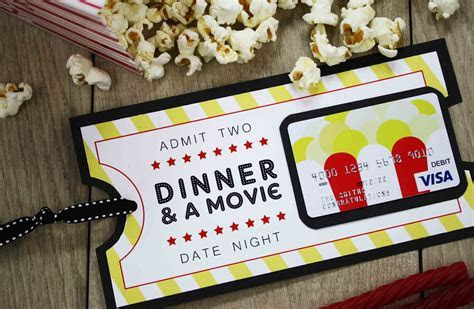 {Free Printable} Give DATE NIGHT for a Wedding Gift   DIY
