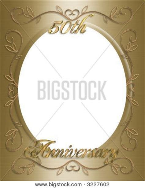 50Th Wedding Invitation Card Frame or Template Image