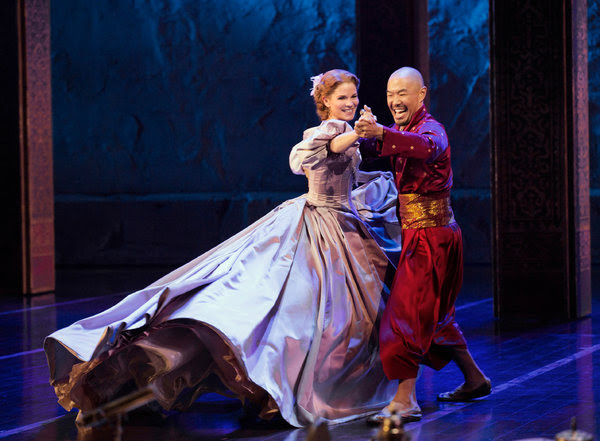 """Kelli O'Hara and Hoon Lee in """"The King and I,"""" at the Vivian Beaumont Theater at Lincoln Center."""