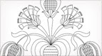 Hand Embroidery Pattern: Tulips & Carnations