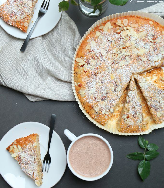 Birnen-Mandel-Kuchen mit Schokolade | whatinaloves.com