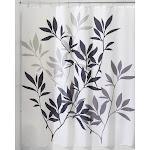 Interdesign Leaves Shower Curtain, Black