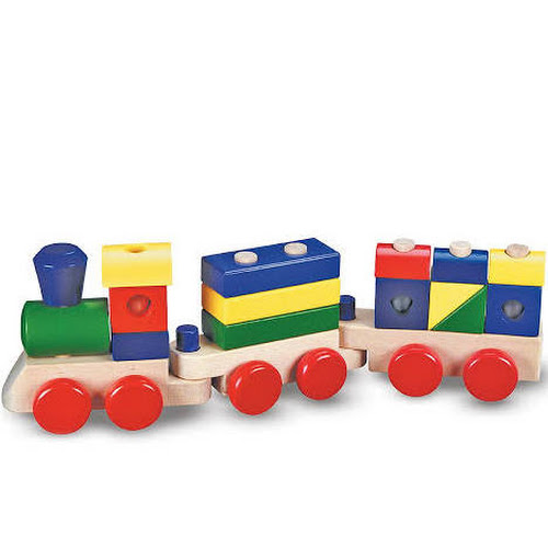 Melissa Doug Stacking Train Toddler Toy