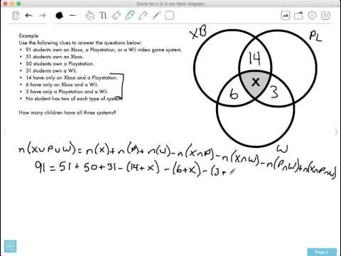 How Do You Solve For The Middle Value In A 3 Set Venn Diagram The Waec Math F A Q S