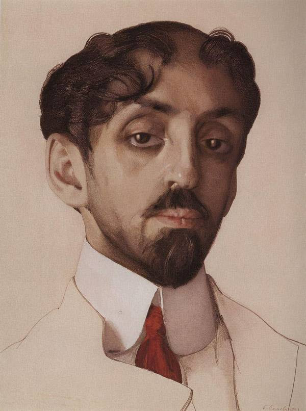 Портрет поэта М.А.Кузмина. 1909