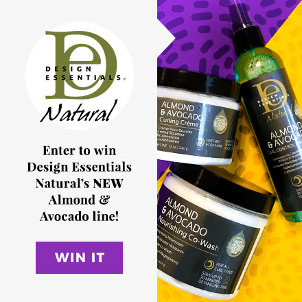 Enter to win Curly Hair prizes: Almond & Avocado Design Essentials Giveaway https://www.naturallycurly.com/giveaways/curlynikki-Almond-Avocado-Design-Essentials-Giveaway