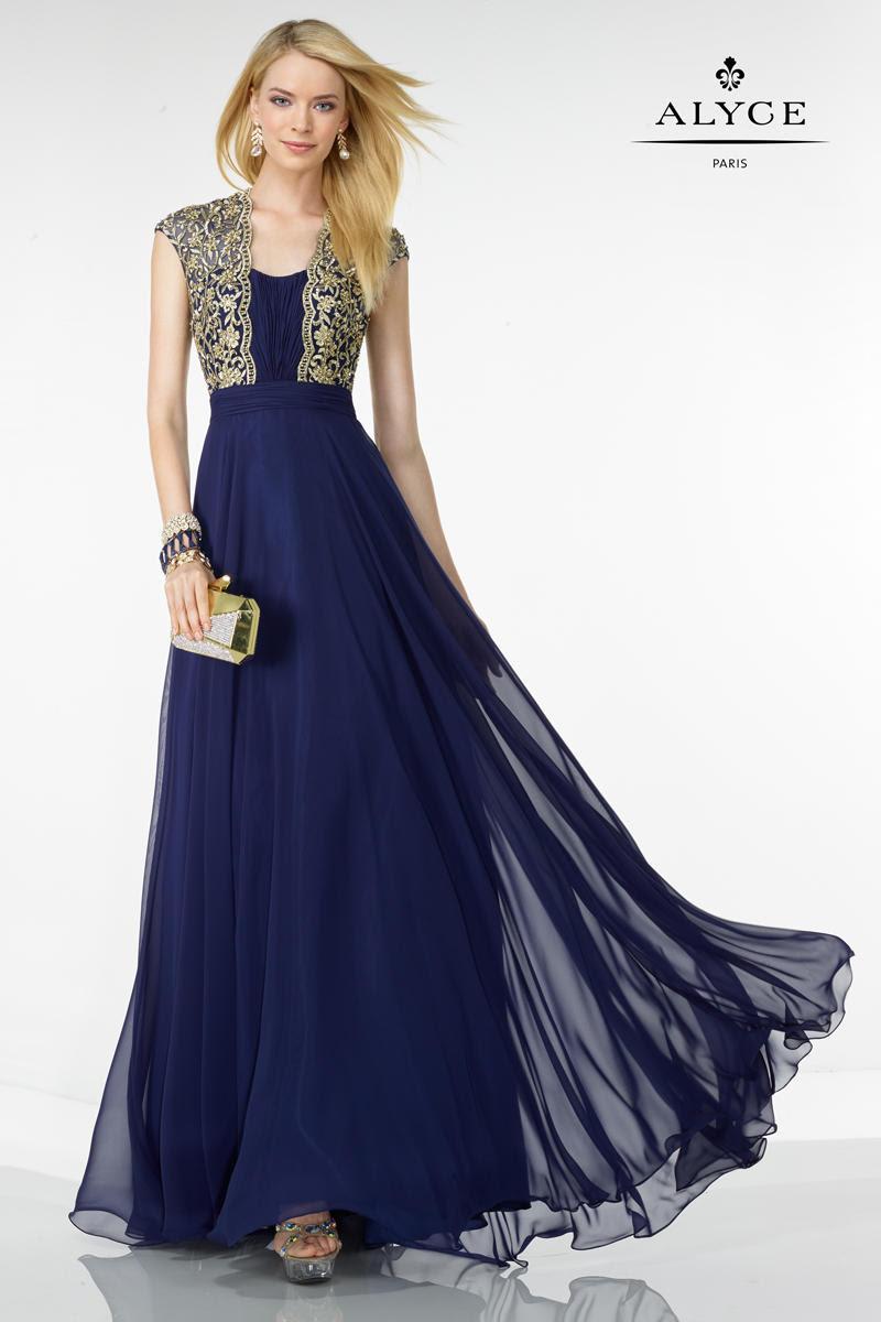5736 Alyce Black Label Evening Dress S16