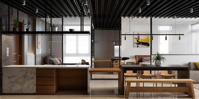 Διαμέρισμα γεμάτο από έντονα χρώματα που δημιουργούν ατμόσφαιρα με ενέργεια