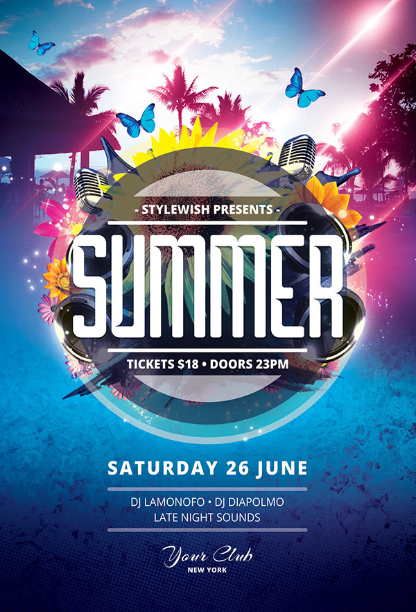 20 Creative Summer Flyers / Poster Designs | Graphics ...