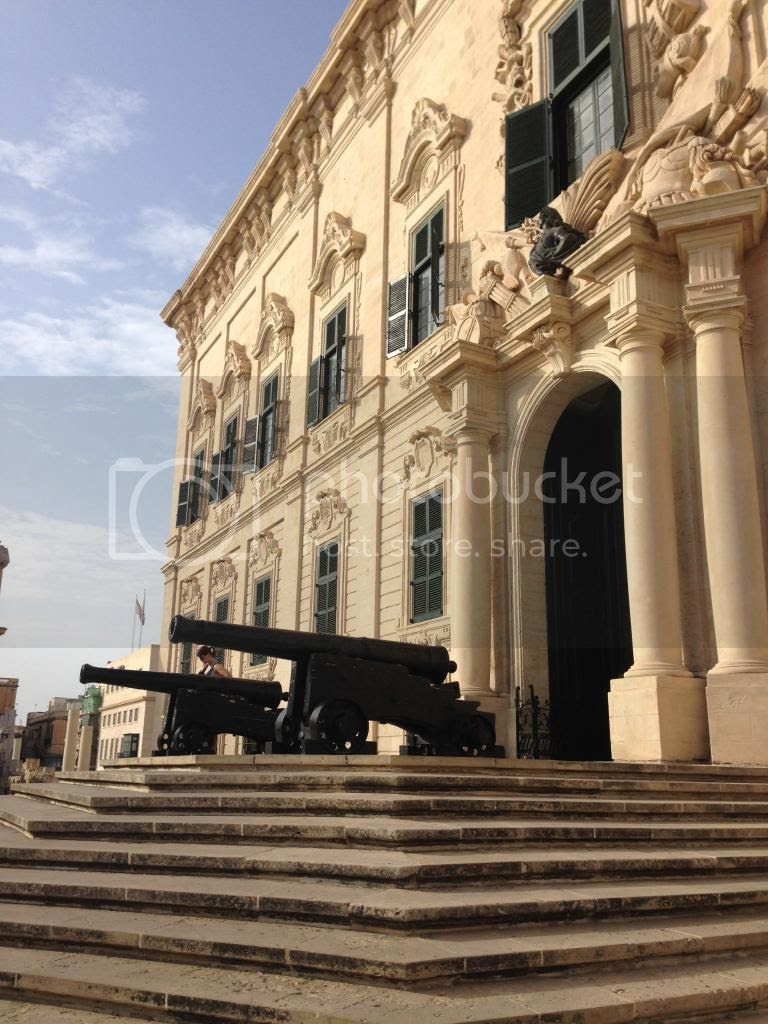 Governmental Palace Valletta, Malta.  Travel Blogger