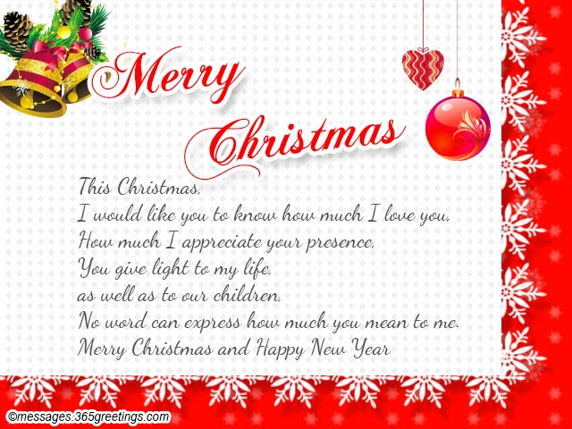 Christmas greeting words for wife xmast 2 m4hsunfo