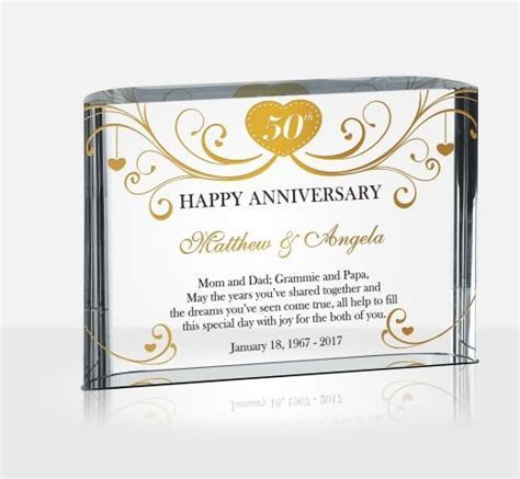 50th (Golden) Wedding Anniversary Gifts   DIY Awards