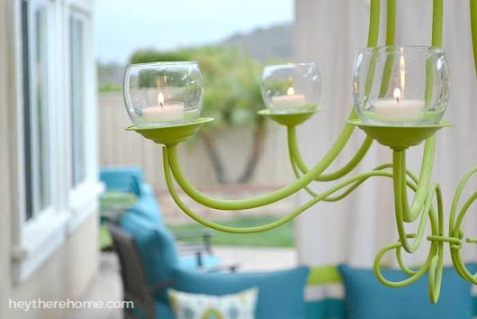 DIY Outdoor Chandelier | How to Make a Candle Chandelier