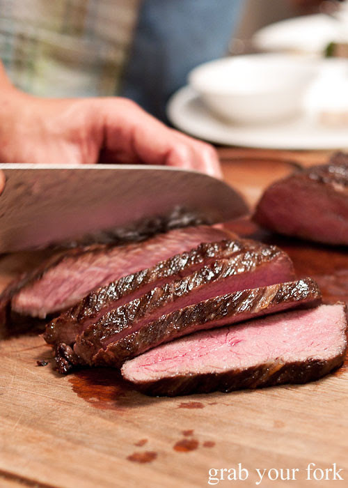 barbecue slow-cooked tri-tip steak
