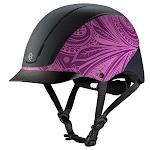 Troxel Spirit Purple Boho All-Purpose Riding Helmet 04-540 Medium, Purple Boho