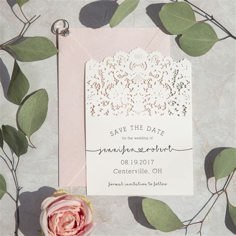 Save The Date   Laser Cut Wedding Invitations