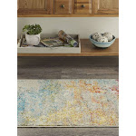 "Celestial Abstract Sealife Area Rug - 3'11"" x 5'11"" Rectangle 