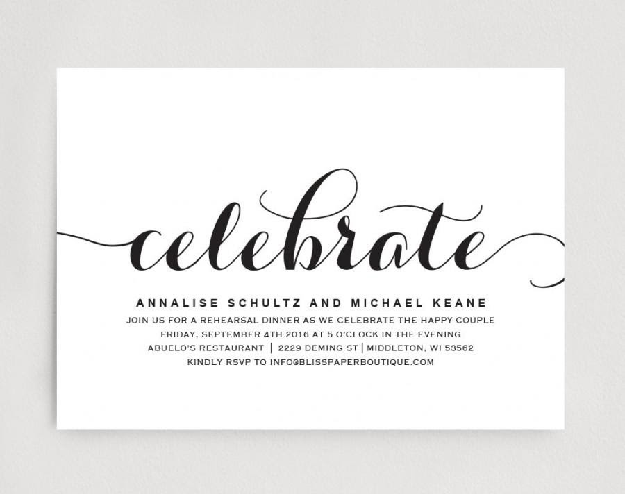 Wedding Dinner Invitation Card Template