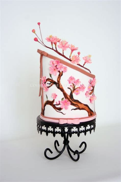 1000  ideas about Cherry Blossom Cake on Pinterest   Cake