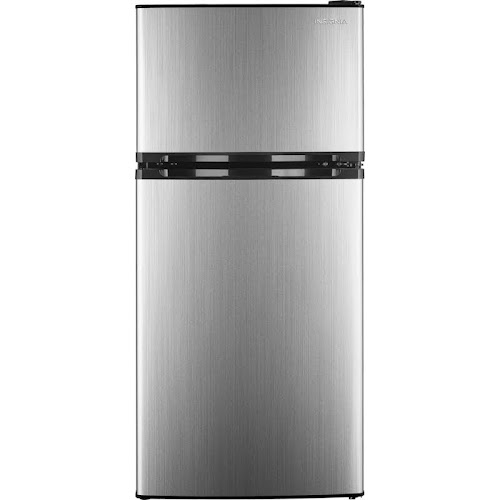 """Insignia NS-CF43SS9 Top Freezer Refrigerator - 19.1"""" - 4.3 cu ft - Stainless Steel"""