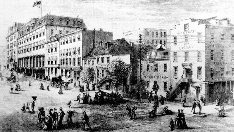File:Washington DC Newspaper Row, 1874.jpg