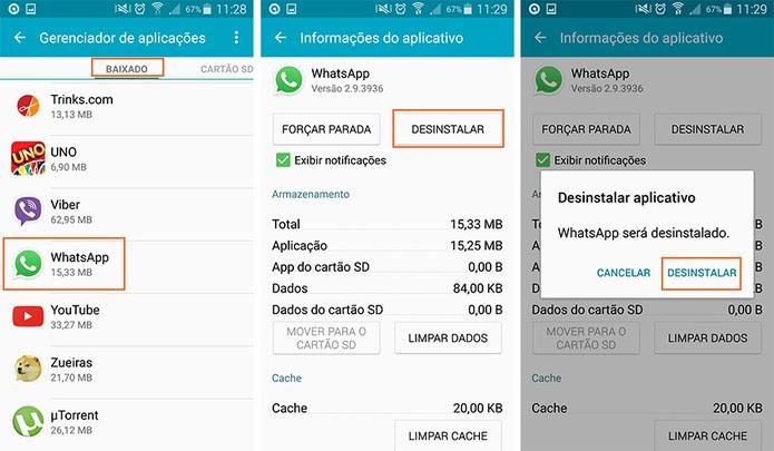 Complete a desinstalação do WhatsApp Plus (Foto: Reprodução/Barbara Mannara)