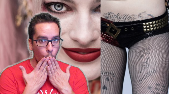 Harley Quinns Tattoos Up Close From Suicide Squad Bonus Features