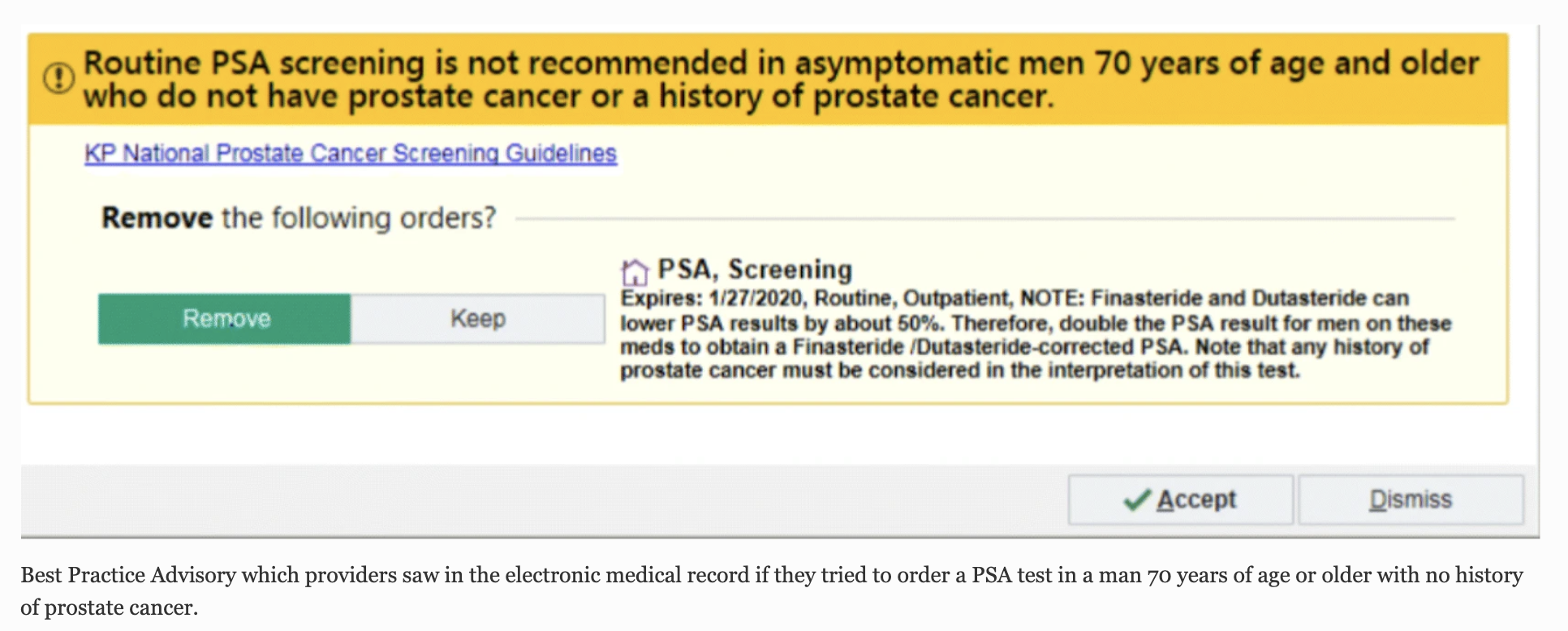 Easy To Implement Intervention Reduced Prostate Cancer Screening In Men 70 And Over Ncal Research Spotlight