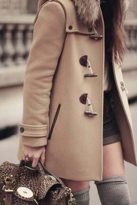 Duffle coats.