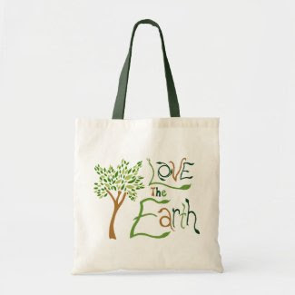 Love the Earth Reusable Tote Bag bag