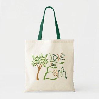 Love the Earth Reusable Tote Bag bag