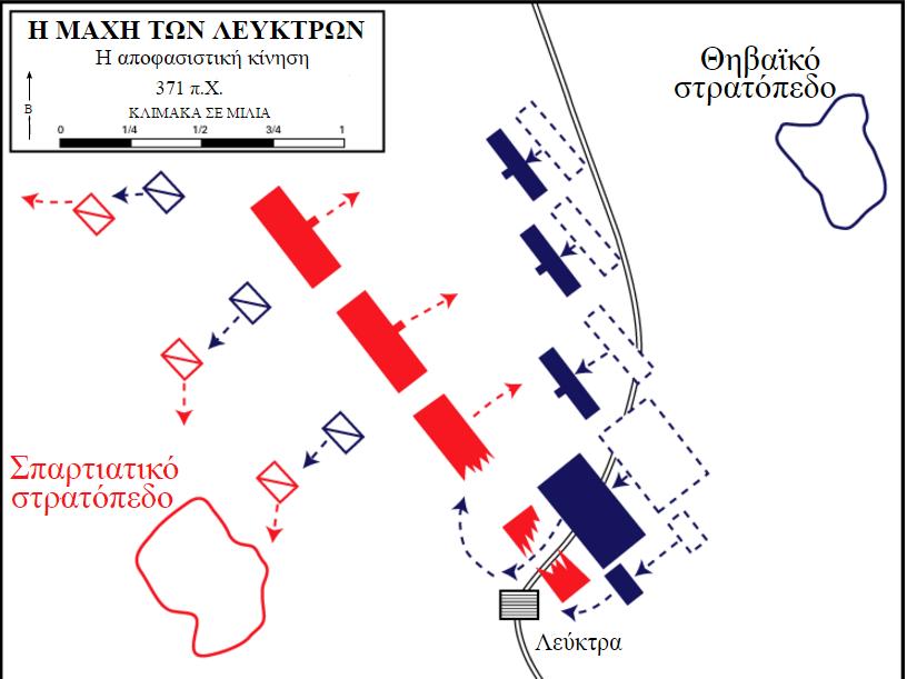 Η Μάχη των Λεύκτρων ήταν μια από τις πλέον περισπούδαστες μάχες της αρχαιότητας, από πλευράς στρατιωτικής τακτικής.