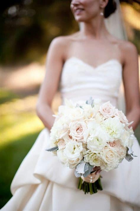 White Lisianthus, White Dahlias, White Roses, Blush Roses