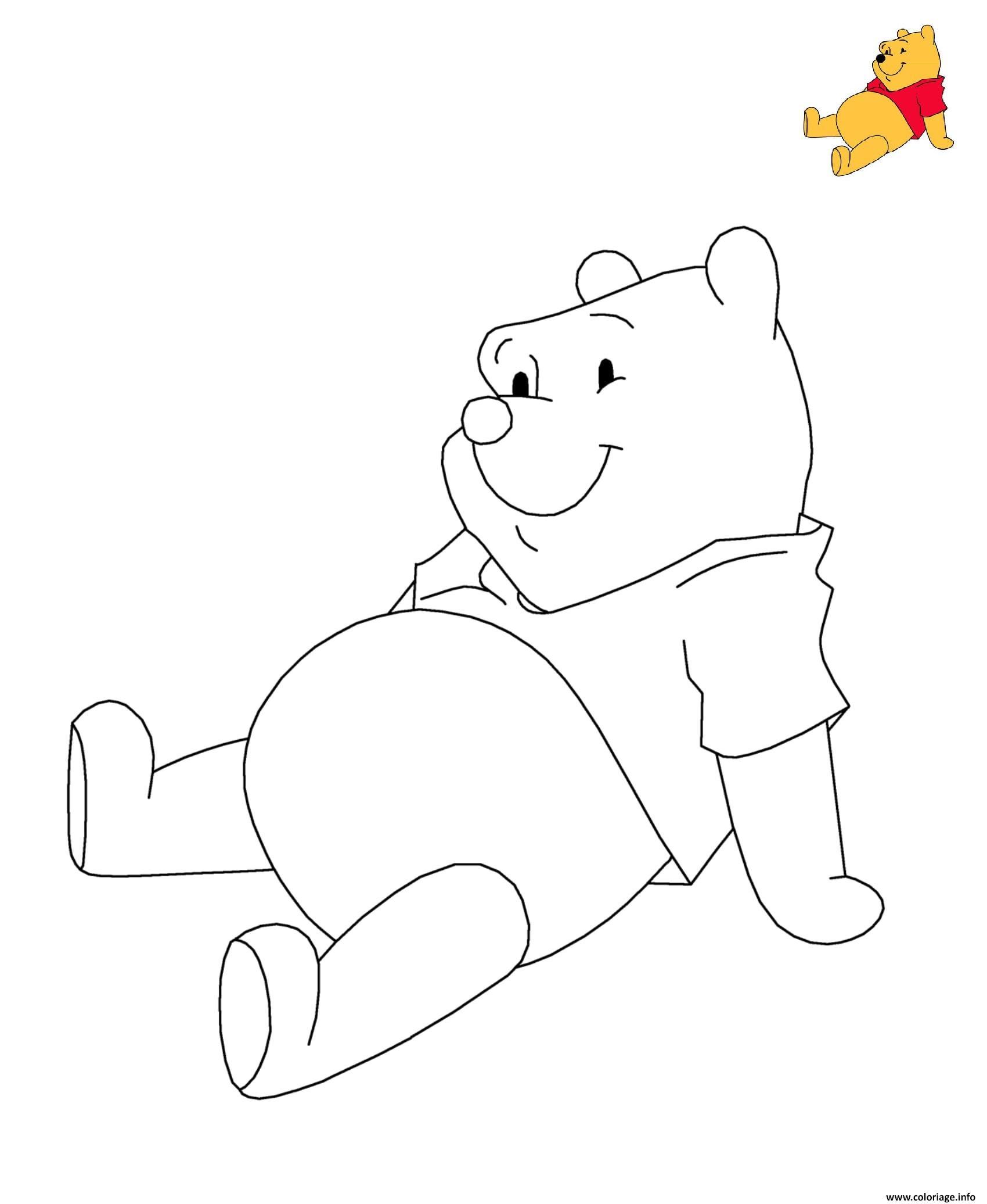 Coloriage Winnie Ourson The Pooh Disney Dessin