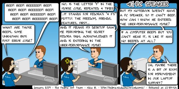 [fedora webcomic: pc speaker