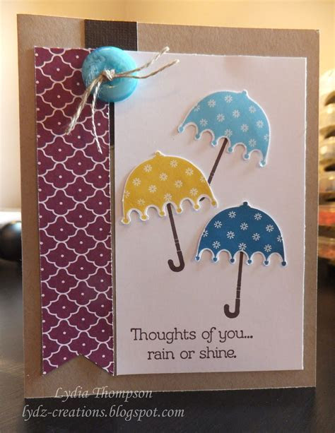 """Card made using Stampin' Up stamp set """"Rain or Shine"""" from"""