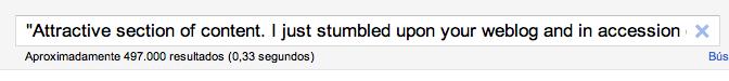 google comentario majete SPAM
