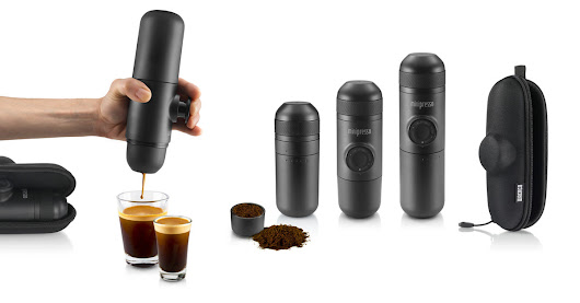 Hand powered portable espresso machine - Outdoors coffee maker