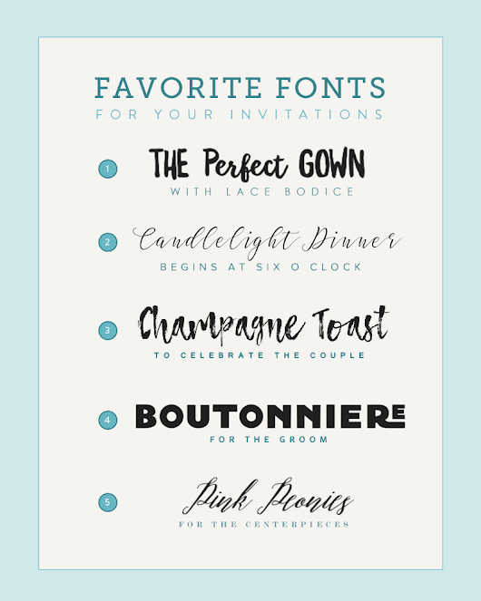 Five Fun Font Pairings for the Recently Engaged