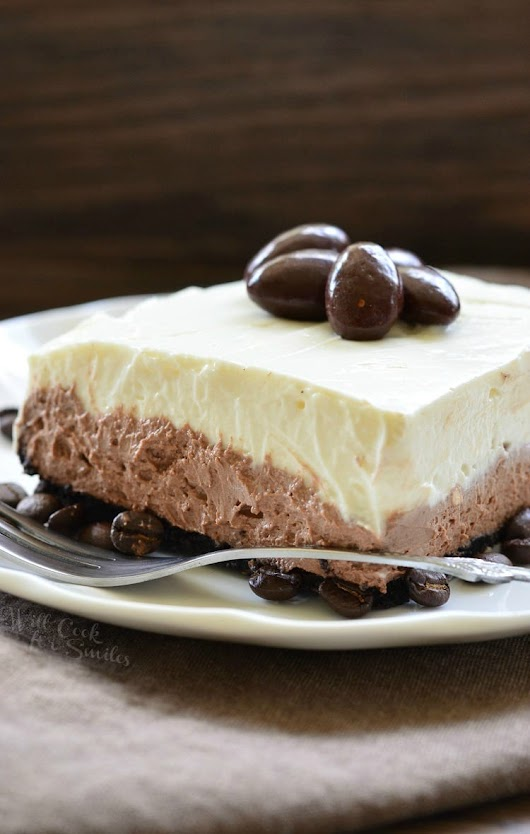 Layered Chocolate Espresso Cheesecake Dessert (No Bake) - Will Cook For Smiles