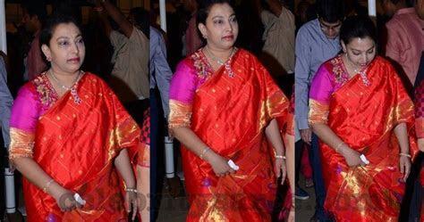 Balakrishna Wife Orange Silk Saree   Saree Blouse Patterns