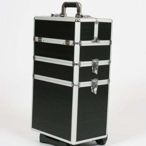 Pas Cher!! Trolley, Coffre en aluminium à outils, valise de rangement, coffre cosmétique noir ...