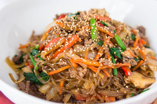 Korean Stir Fried Korean Noodles  - Japchae