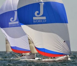 J/80s sailing J/World clinic