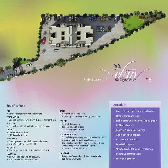 Reelicon Elan - Possession in 20 Months - Only 48 Units of Budget 1 BHK (24 Units) & 2 BHK (24 Units) Flats at Sus - Baner Annex - Pune 411021 with Amenities - Children's Play Area, Lift with Back up & Ample Parking