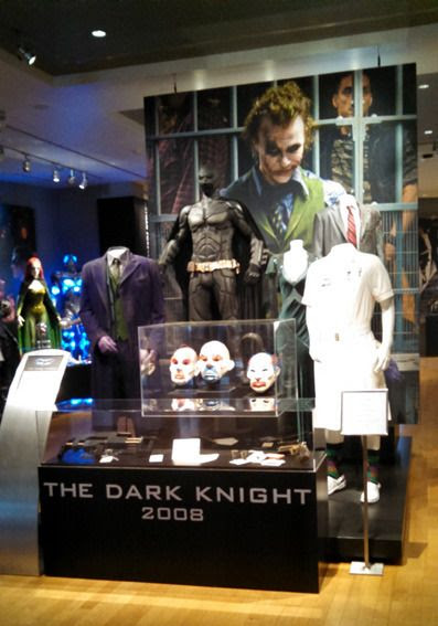 THE DARK KNIGHT exhibit at the Warner Bros studio museum...as seen on September 8, 2015.