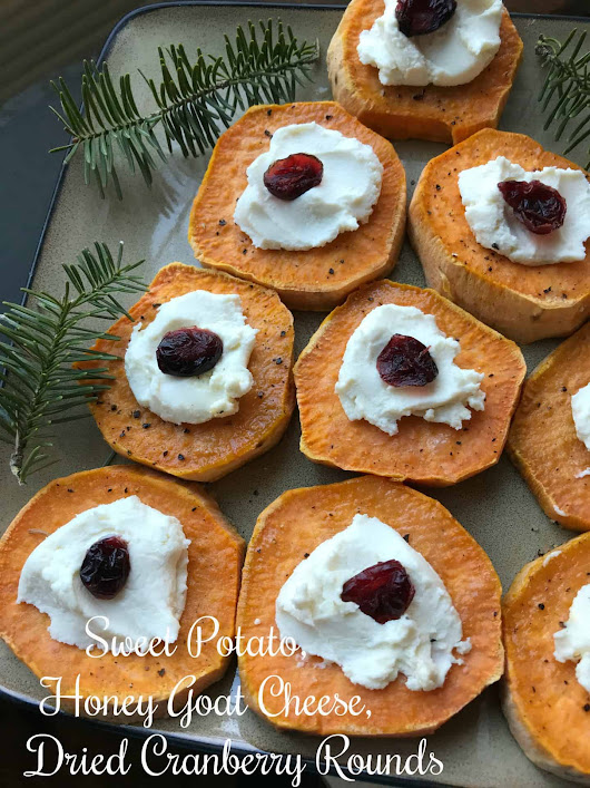 Sweet Potato, Goat Cheese, Cranberry Rounds | Turnips 2 Tangerines