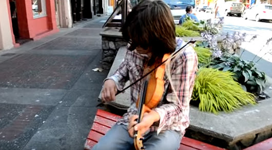 This Insanely Talented Fiddler Busking In Victoria, BC, Needs To Be Discovered