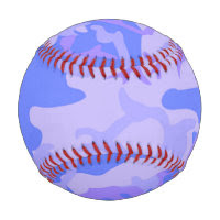 Light Blue Camouflage Pattern Baseball Baseballs