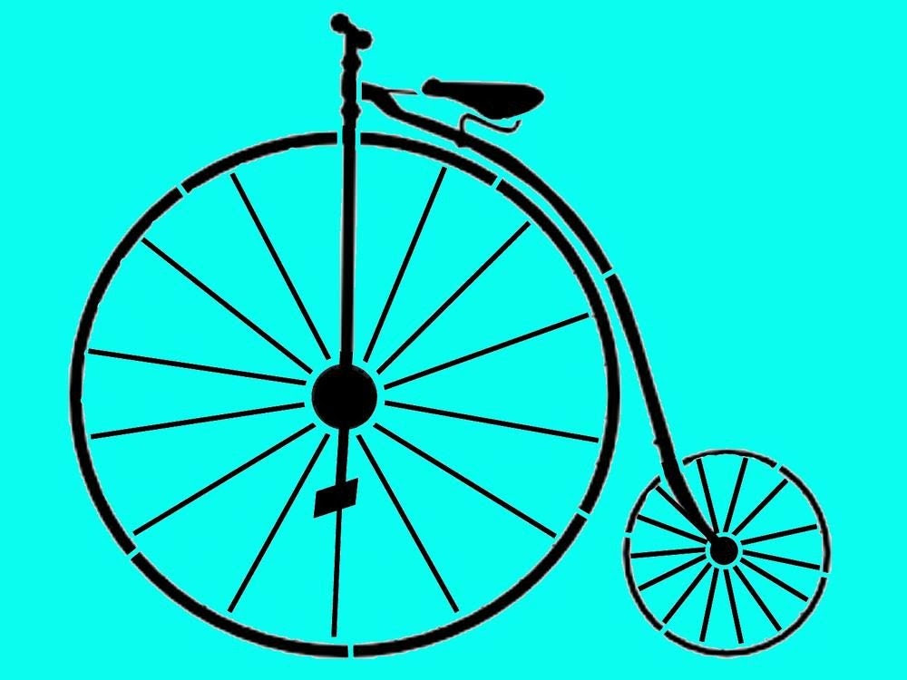 Vintage Old Fashioned Bicycle Reuseable by ArtisticStencils